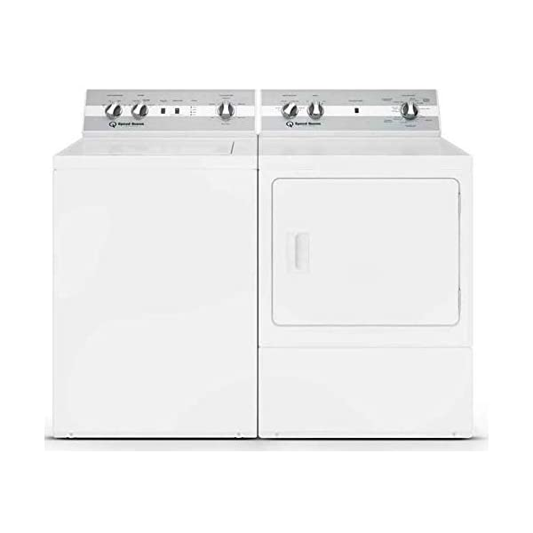 Speed Queen Laundry Pair TC5000WN 26″ Top Load Washer and DC5000WE 27″ Electric Dryer