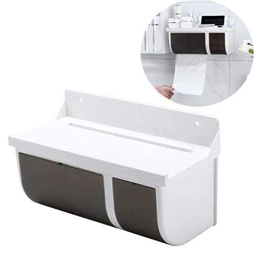 iFOMO Toilet Paper Holder Traceless Plastic Bathroom Kitchen Corner Storage Rack Organizer Shower Shelf