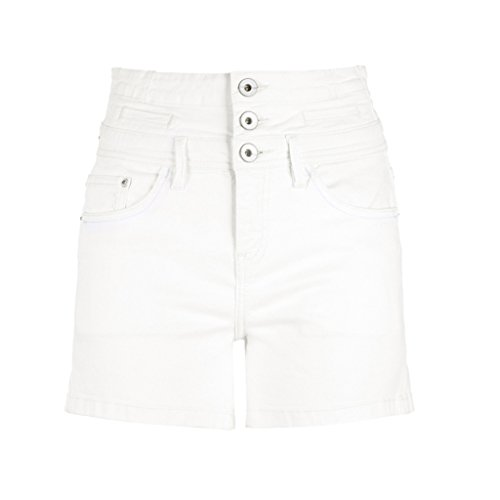 Busine 72a Pantaloncini Donna Fang Qi In Cotone Piegare lr Alta Bianco Vita size Estivi Da A Corti 170 Fx5Hxw