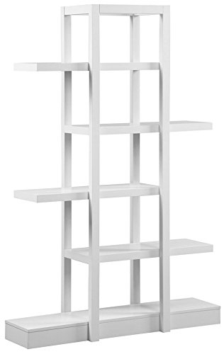 Monarch Specialties I 2561, Bookcase Open Concept, Display Etagere, White, 71