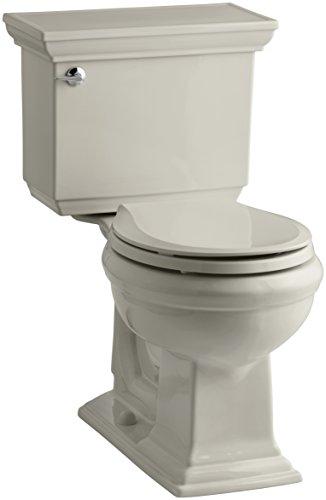 Kohler K-3933-G9 Memoirs Comfort Height Two-Piece Round Front Toilet with Stately Design, Sandbar