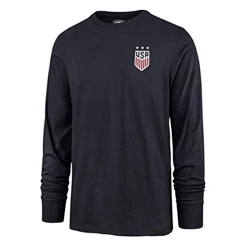 OTS World Cup Soccer Men's Rival Long Sleeve Tee, U.S. Women's Soccer Team, Hudson Navy, Large