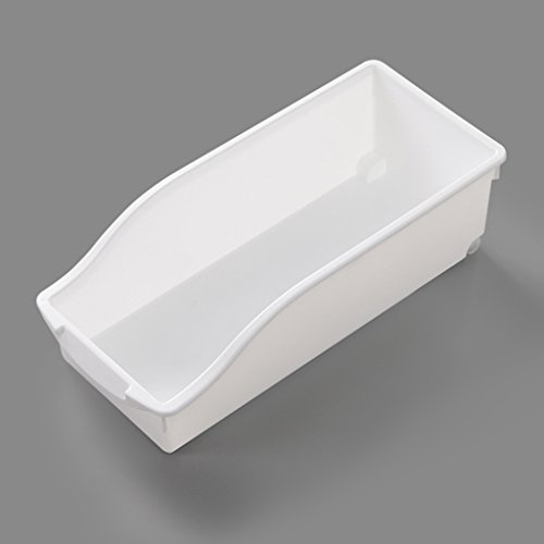 storage box Kitchen Refrigerator Plastic Fresh Box Drawer Type Frozen Fruit Pure Color Transparent Finishing Box Rectangle Bottom Pulley Handle (Color : White, Size : (Drawers Bottom Box)