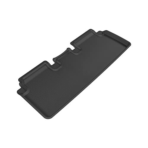 Kagu Rubber 3D MAXpider Second Row Custom Fit All-Weather Floor Mat for Select BMW 5 Series Black Models E60