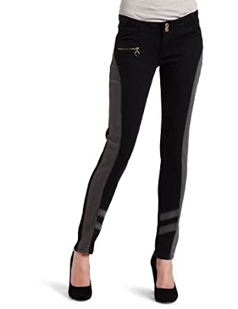 Southpole Juniors Fashion Skinny Jean With Studded Back Pockets And Front Zipper Detail, Black, 1