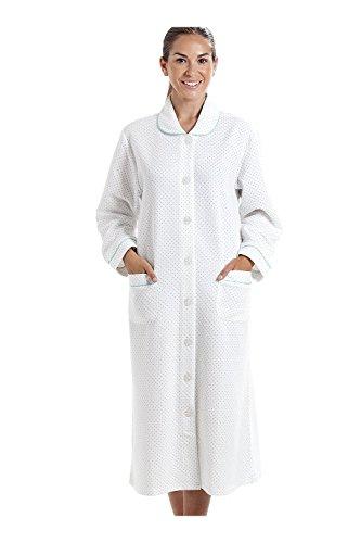 Bianco bianca da homewear donna Vestaglia pois con azzurri qv0a1t
