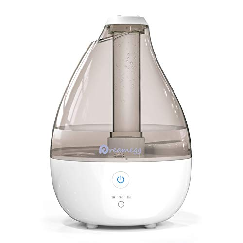 Cool Mist Humidifier- Quiet Humidifiers for Bedroom, Ultrasonic Baby Humidifier with High Low Mist, Optional Timer, Night Light, Last 12-30 Hours, Easy Clean Filterless Air Humidifier for Home Office