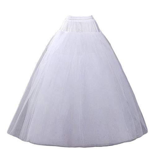 (AWSALE Hoopless Petticoats Crinoline Slips Underskirt Floor Length for Bridal Gown.WPT109)