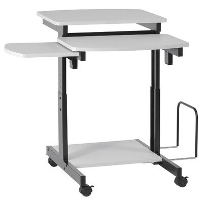 Buddy Products Capri Compact PC Workstation, 31.175 x 34 x 31.5 Inches, Gray (9116-18) Review