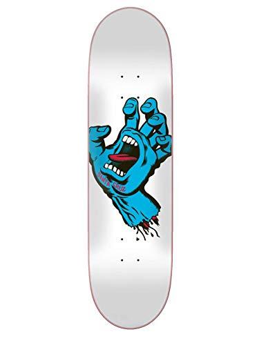 Santa Cruz Skateboard Deck Screaming Hand Taper Tip White 8.0
