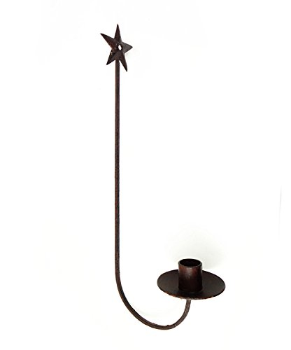 1 X Rustic Star Wall Sconce Country Decor