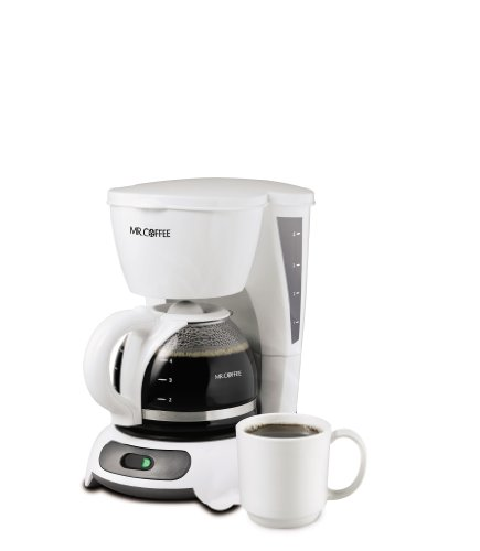 Mr. Coffee 4-Cup Switch Coffee Maker, White - TF4-RB