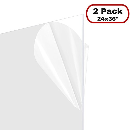 FrameMaster 24x36 Flexible Plastic Sheet (2 Pack), 0.03 Thick, for Poster Picture Document Frame Protection, DIY (Polyester Sheet Protectors)