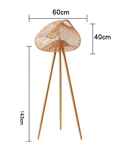 WYQSZ Floor Lamp Living Room Tea Room Lamp Creative Tripod Simple Vertical Hotel Bamboo Bedside Lamp -6146 Table lamp