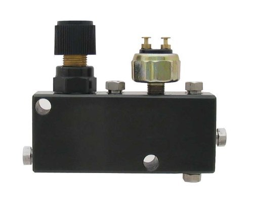 Disc Proportioning Valve - A Team Performance Adjustable Proportioning Valve Distribution Block Disc Drum Brake Street Rod Black