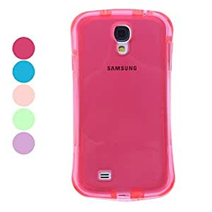 JAJAY-Transparent Soft TPU Case for Samsung Galaxy S4 I9500 (Assorted Colors) , Pink