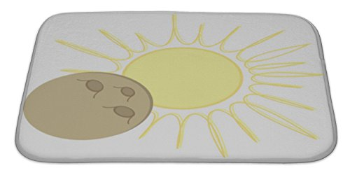 gear-new-bath-rug-mat-no-slip-microfiber-memory-foam-yellow-solar-eclipse-flat-design-moon-over-sun-