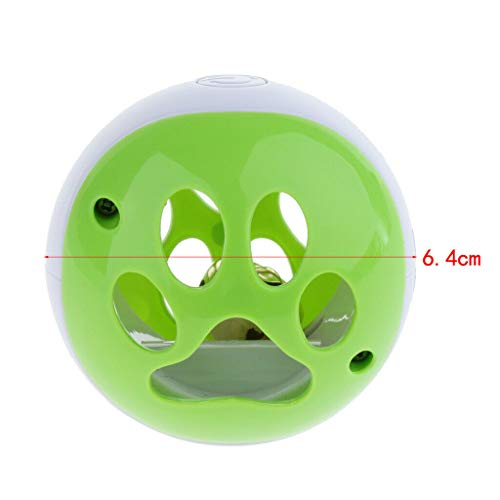 Agordo 6cm Cat Kitten Dog Pet Bell Sound Ball Chewing Chasing Toy Fun Activity Play Toy (Color - Green)