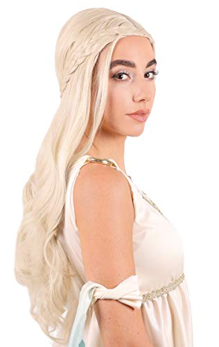 Womens Halloween Costumes With Wigs (Narwhal Novelties Renaissance Dragon Queen Blonde Wig for Women, Halloween, Costume)