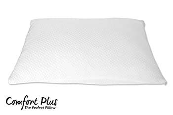 Premium Shredded Memory Foam Pillow by Comfort Plus     Designed Breathable & Cool   Hypoallergenic Machine Washable Bamboo Protective Case   Helps Reduce & Alleviate Neck Pain   Full Warranty (Queen)