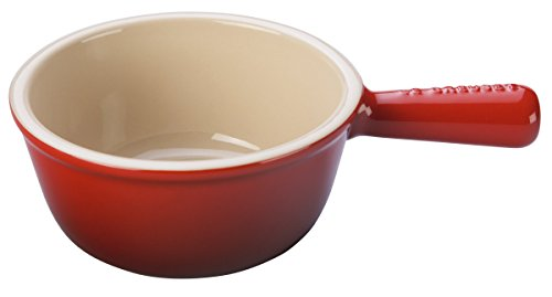 Le Creuset Stoneware 16-Ounce French Onion Soup Bowl, Cerise (Cherry Red) by Le Creuset