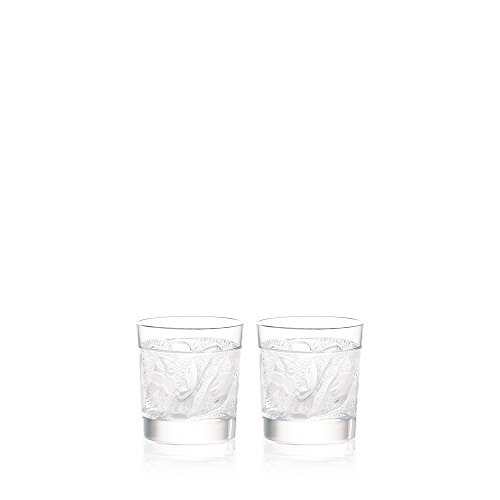 Lalique Set Of 2 Owl Whisky Tumblers (Lalique Glass)
