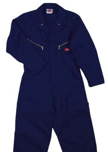 Dickies Men's Long Sleeve Deluxe Coverall, Dark Navy, 2X Large-Tall]()