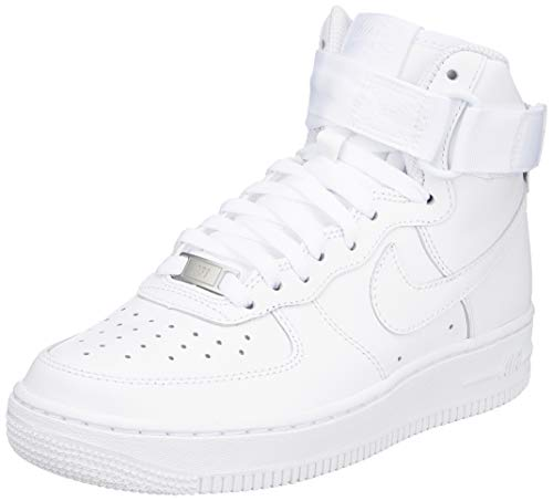 NIKE AIR Force 1 HIGH Womens Basketball-Shoes 334031-105_6 - White/White-White