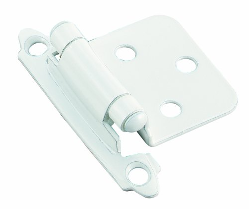 Amerock BP3429W Self-Closing Face Mount with Variable Overlay Hinge, Set, White, 2-Pack
