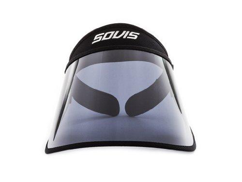SOVIS Black Full Size 5.5 UV Facial Protection Solar Visor Hat Worldwide Patented