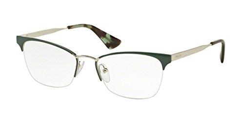 Prada CINEMA' PR65QV Eyeglass Frames UEI1O1-51 - - Frames Prada Rimless Glasses