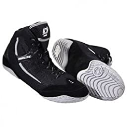 Brute Xplode 2 Wrestling Shoes Black-Silver, Size: 8.5