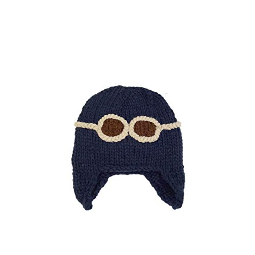 Aviator Glasse Baby Girls Boys Embroidered Wool Cap Warm Winter Knit Cap from ABASSKY