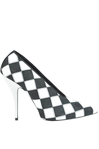 McCartney Stella Escarpins Noir Artificielle Blanc MCGLCAT03003E Femme Cuir SUSOqwF