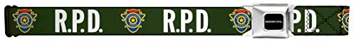 Buckle Down Big Boys Rpd-raccoon Police Detective Badge Seatbelt Belt, multi, Extra Large (Evil Buckle)