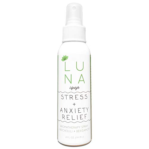 Luna Bergamot & Patchouli Aromatherapy Spray - Stress Anxiety Relief - Room & Pillow Mist... ()