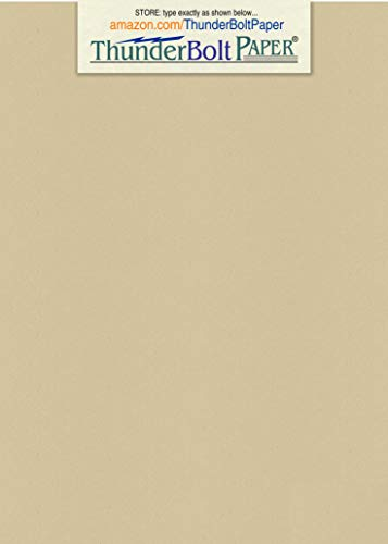 (100 Desert Tan Fiber Finish Cardstock Paper Sheets - 5 X 7 inches Photo|Card|Frame Size - 80 lb/Pound Cover|Card Weight 216 GSM - Natural Fiber with Darker Specks - Slightly Raw Finish)