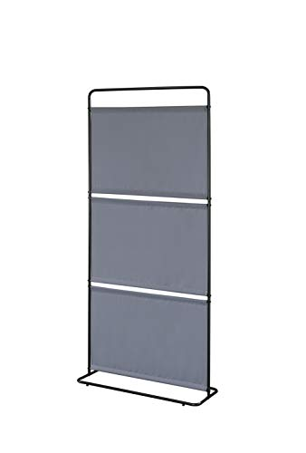 "Proman Products FS17093 Saturn Room Divider (3-pc Fabric), 32"" W x 12"" D x 71"" H, Gray"