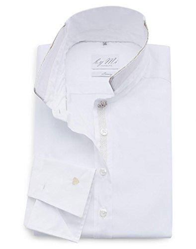 byMi - Camisas - Básico - cuello mao - Manga Larga - para mujer blanco