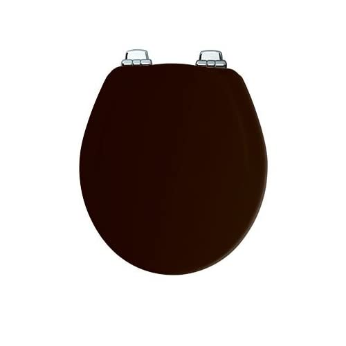 Bemis 30CHSL 047 Black Round, Molded Wood Toilet Seat delicate