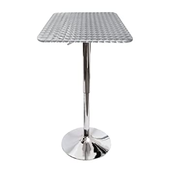 Bistro Adjustable Bar Table With Square Top