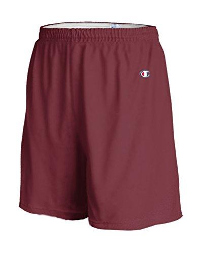 Champion - Pantalones cortos de gimnasia de algodón de 6.3 oz en granate - Grandes