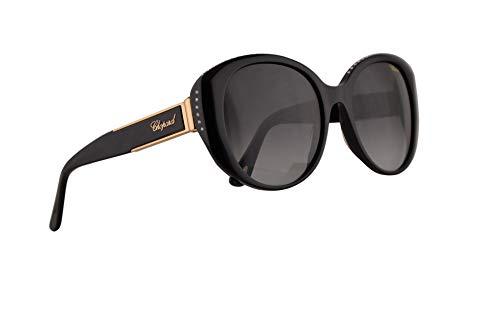 Chopard SCH191S Sunglasses Shiny Black w/Grey Gradient Lens 54mm 700Y SCH191/S SCH ()