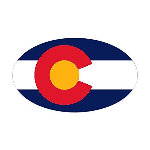 CafePress - Colorado Flag Original Oval Sticker - Oval Bumper Sticker, Euro Oval Car Decal