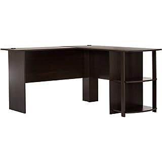 Do It Yourself Office Desk With Ameriwood Home Dakota Lshaped Desk With Bookshelves Espresso Office Desk Doityourselfstore