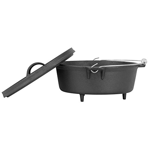 Winterial 6 Quart Cast Iron Camping Dutch Oven / Camping Cookware / Durable / Cooking
