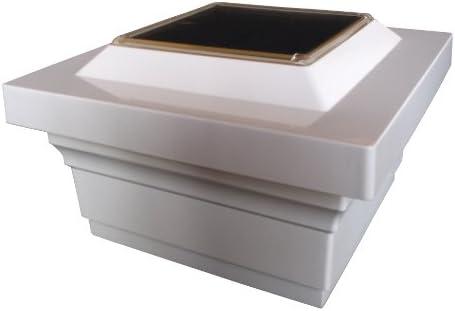 Classy Caps SL075W 5×5 Magestic Solar Post Cap – 10 Pack White