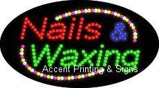 Nails & Waxing Flashing & Animated LED Sign (High Impact, Energy Efficient)