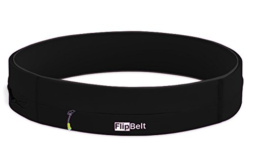 FlipBelt Running & Fitness Workout Belt, Black, Large