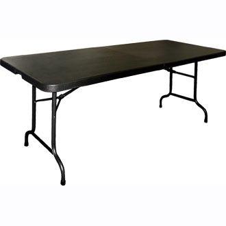 Garden Buffet Event Centre Folding Black Table 6ft Long